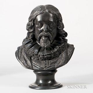 Wedgwood Black Basalt Bust of Francis Bacon