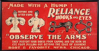 MILLINERY ADVERTISING SIGN,