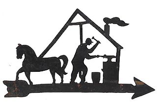 EQUESTRIAN WEATHER VANE,