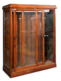COUNTRY STORE OAK DISPLAY CASE,