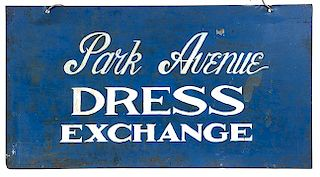METAL DRESS SIGN