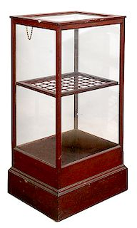 CANE/UMBRELLA COUNTRY STORE WALNUT DISPLAY CASE