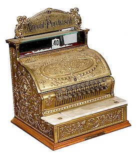 RESTORED BRASS #333 CASH REGISTER IN WORKING CONDITION