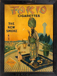 CIGARETTE ADVERTISING SIGN WITH AFRICAN AMERICAN INFLUENCE