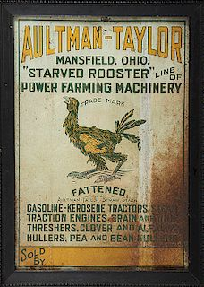 COUNTRY STORE ADVERTISING TIN SIGN