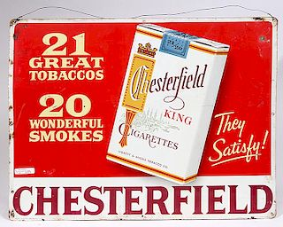 CIGAREETE ADVERTISING TIN SIGN