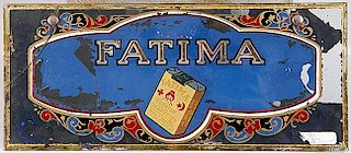 CIGARETTE FATIMA GLASS SIGN