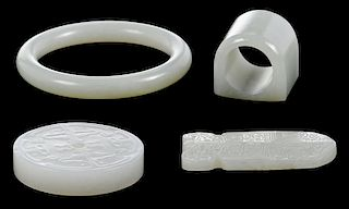 Four Jade Carved Objects