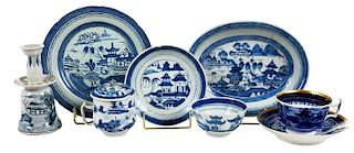 55 Pieces Blue and White Canton
