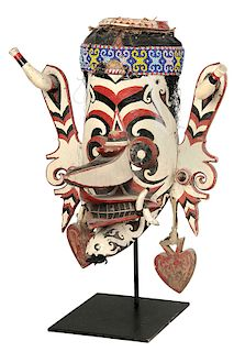 Bahau Dayak Mask on Stand