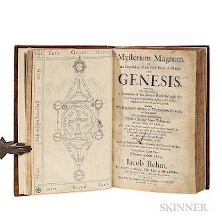 Böhme, Jakob (1575-1624) Mysterium Magnum; [bound with] Durant Hotham's (1617-1691) The Life of Jacob Behmen; [and] Böhme's Four Tabl