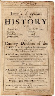 Bromhall, Thomas (fl. circa 1658) A Treatise of Specters. Or, an History of Apparitions, Oracles, Prophecies, and Predictions.