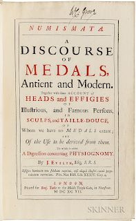 Evelyn, John (1620-1706) Numismata. A Discourse of Medals, Antient and Modern.