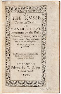 Fletcher, Giles (1549?-1611) The Russe Common Wealth, or Maner of Gouernement by the Russe Emperour, (commonly called the Emperour of M