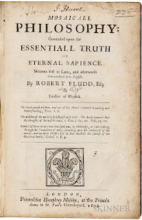 Fludd, Robert (1574-1637) Mosaicall Philosophy: Grounded upon the Essentiall Truth or Eternal Sapience.