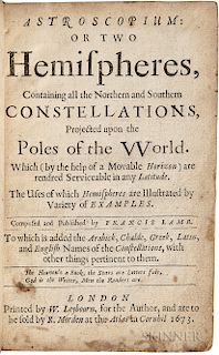 Lamb, Francis (fl. circa 1673) Astroscopium: or Two Hemispheres, Containing all the Northern and Southern Constellations.