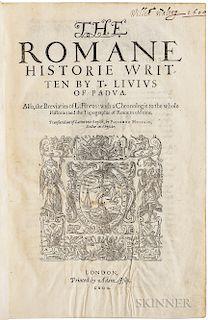 Livius, Titus (64 or 59 BC-AD 12 or 17); trans. Philemon Holland (1552-1637) The Romane Historie.