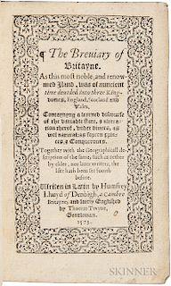 Llwyd, Humphrey (1527-1568) The Breviary of Britayne.