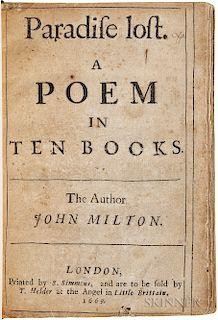 Milton, John (1608-1674) Paradise Lost. A Poem in Ten Books.