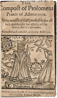 Ptolemy, Claudius (c. 100-170 AD) The Compost of Ptolomeus, Prince of Astronomie.