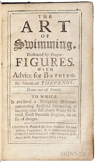 Thévenot, Melchisédech (1620-1692) The Art of Swimming. Illustrated by Proper Figures. With Advice for Bathing.
