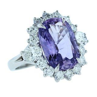 AGL Certified, 9.22 CT Violet Purple Sapphire Diam