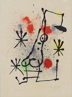 """Joan Miro """"Herdes D'ete' Original Color Lithograph"""
