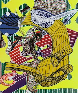 Frank Stella Color Artist Proof On Arches Paper