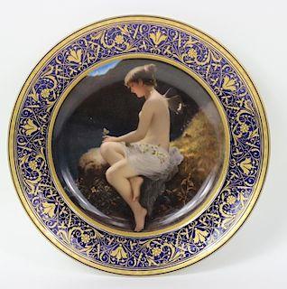 Wilhelm Kray (1828-1889) Royal Vienna Plate
