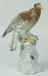 Antique Meissen German Porcelain Bald Eagle