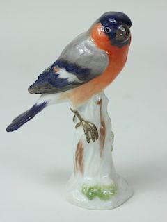 Meissen German Porcelain Finch Bird Figurine