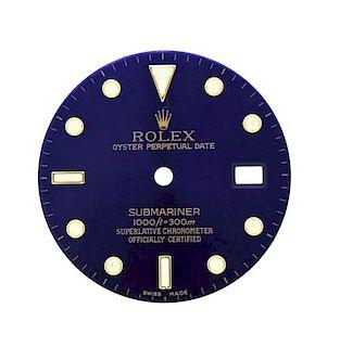 Rolex Submariner Date Blue Watch Dial