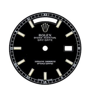 Rolex Oyster Day Date Black Watch Dial