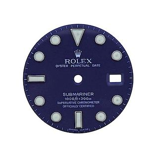 Rolex Oyster Date Submariner Watch Blue Dial