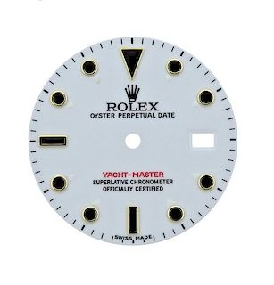 Rolex Oyster Date Yacht Master Watch White Dial