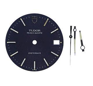 Tudor Oysterdate Prince Quartz Watch Dial Hands Set
