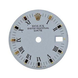 Rolex Date White Roman Watch Dial 6917