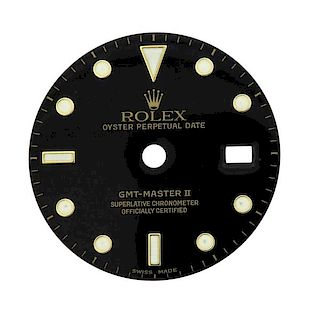 Rolex Oyster Date GMT Master II Watch Black Dial
