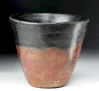 Egyptian Pre-Dynastic Naqada Blacktop Vase