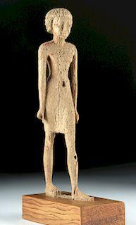 Published / Exhibited Egyptian Wood Striding Figure