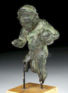 Romano Egyptian Bronze Male Dwarf Figure