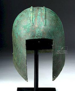 Greek Illyrian Bronze Helmet - Xrayed