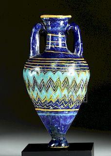 Gorgeous Greek Core-Form Glass Amphoriskos