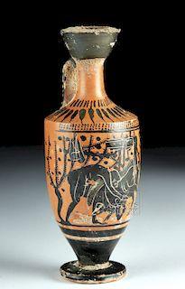 Greek Attic Black-Figure Lekythos - Haimon Group