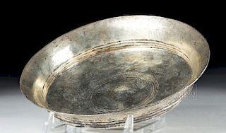 Ancient Greek Silver Libation Dish - 204.2 grams