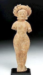 Greek Hellenistic Terracotta Female Statuette w/ TL