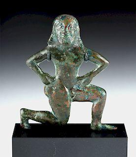 Etruscan Bronze Male Figure - Dancer