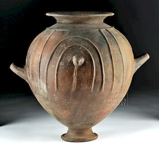 Large Etruscan Pottery Stamnos / Storage Vessel