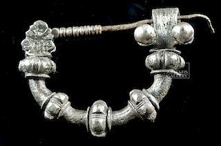 Rare Greek Silver Military Fibula - 37.9 g