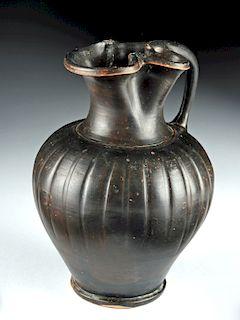 Greek Apulian / Campanian Blackware Oinochoe